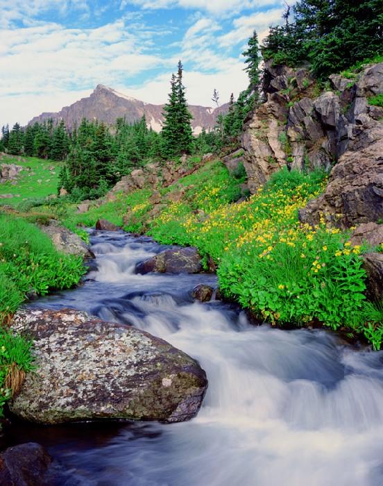 0637 Indian Peaks Cascade #1